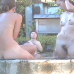 どうやって見ても理想の楽園のように見える女野外風呂盗撮