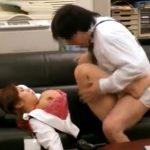 オフィスをホテル代わりにする上司と愛人OLのセックス盗撮!