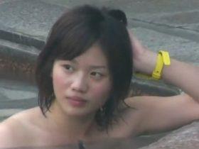 【神動画】盗撮史上に残る美少女の裸体が収録された某旅館の露天風呂映像がガチだ・・・