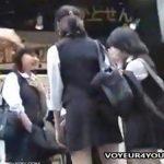 【パンチラと隠撮動画】マジもん制服女子高生のスカート内から純情パンティを隠し撮りした危険映像