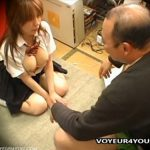 【セックス盗撮動画】万引きした巨乳JKにアナル舐め奉仕を強要してハメ散らかすキチガイ店長