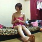 【オナニー隠し撮り動画】お風呂上がりにスキンケアを体に塗っていると段々とムラムラして・・・