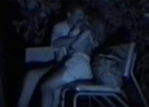 【カップル隠撮動画】夜の公園を探索しているとカップルがベンチでエッチなこと初めていたので・・・