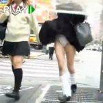 【パンチラ盗撮動画】東○都豊島区池袋サンシャイン通りより制服JK達の絶妙な風チラによるパンティ映像をご提供w