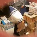 【隠し撮り動画】JKコスチュームにお着替え中のヘルス嬢を従業員が無断撮影して店舗PRに使用して大問題!