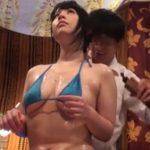【SEX盗撮動画】オイルエステで豊潤な美ボディをテカテカになって発情中のギャルに思いっきりパコって中出し!