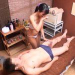 【SEX盗撮動画】お客の勃起チ●コに魅了されてハメさせてしまったメンズエステで働く欲求不満の人妻!