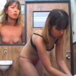【隠し撮り動画】洗面所で着替える元ヤン人妻!水着から衣替えしたパンティが冗談抜きにエッチ過ぎるw