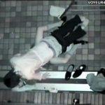 【SEX盗撮動画】偶然遭遇!可愛い制服JKが深夜の路上で青姦セックス!正常位で速攻イキ果てる彼氏w