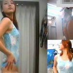 【盗撮動画】色白美人お姉さんの水着試着!オマ●コ直視アングルのスロー再生が嬉しい大変貴重映像w