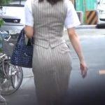 【隠し撮り動画】キュッとくびれた腰回りが堪らない美人制服OLをターゲットに白昼堂々とパンチラ強襲!