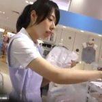 【HD盗撮動画】激レア希少価値MAX!子供服売り場の清潔感あふれる美人お姉さんの純白パンチラ映像!