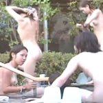 【盗撮動画】危険すぎ本物リアル!従業員が犯人だと言われている老舗旅館の露天女子風呂映像が流出!