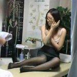 【動画】真面目そうだがメガネを外すとスレンダー美人だった制服OLが整体マッサージ師のレイプの餌食となる!
