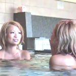 【盗撮動画】会心の傑作!美ギャル集団のノーガード全裸映像!旅館の女子風呂で美乳&マ●コ映りすぎw