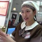 【HD盗撮動画】逆さHERO師!デパート地下街のドーナツショップ店員の清楚系美人お姉さんのパンチラを攻略www