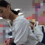 【盗撮動画】予告なく即削除!ガチで二次成長期直前くらいの美少女を逆さ撮りしたパンチラ危険映像!