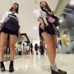 【盗撮動画】制服女子校生のフレッシュレッグを求めて追跡開始!スカート内からパンチラを捕獲しまくるwww