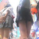 【盗撮動画】下半身の魅力に誘われて!放課後の制服JKを情熱的に尾行してパンチラを撮影www