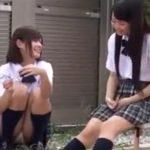 【盗撮動画】青春のパンチラッキー遭遇!放課後の美少女JKの股間ガードが緩すぎてもう最高www