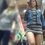 【盗撮動画】エロさを極めた体付きの美人ギャルの超ミニワンピに思わず興奮してパンチラを撮りまくった!