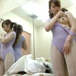 【HD盗撮動画】バレエ教室のレッスン後に旨み成分が流れ出した汗を拭きとり着替える巨乳お姉さん!