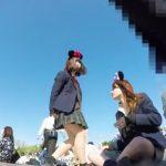 【HD盗撮動画】某TLDらしき夢の国で撮影された美少女JKの無防備すぎるパンチラ映像が絶品だった!