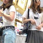 【盗撮動画】さすがは現役女子校生!尻肉サイコー!スカート内を逆さ撮りするとパンチラ&ブラちら!
