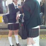 【HD盗撮動画】危険人物ふくろう!通学中のアドケナイ制服美少女ばかりを尾行してスカート捲りパンチラ!