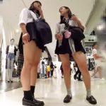 【盗撮動画】放課後の制服美少女の純白パンティ最高!繁華街を尾行してパンチラを撮影し放題www