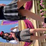 【HD盗撮動画】某夢の国で可愛らしい制服JKミニーネズミちゃんのスカート内からパンチラ撮り放題www