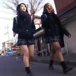 【HD盗撮動画】通学中の制服美少女を徹底マークしてパンチラを逆さ撮りしまくった!!