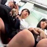 【盗撮動画】制服女子校生のお嬢ちゃん二人組を尾行して純白のパンチラを撮り続けた!!