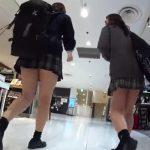 【盗撮動画】放課後の制服女子校生のフトモモに粘着!ムチムチ下半身からパンチラを撮りまくる!!