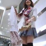 【HD盗撮動画】Mr.研修生パンチラ!超美人ショップ店員のマンコはみ出しそうで食い込みTバック!!