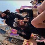 【盗撮動画】あの有名テーマパークのシンデレラ城をバックに制服美少女のパンチラを無断撮影www