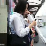 【HD盗撮動画】制服女子校生のロリパンティGET!美少女をストーカーしてスカートを捲り強制パンチラ!!