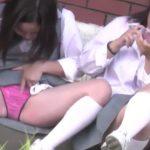 【HD盗撮動画】イイやつです!現役制服美少女のお嬢ちゃんが股間開脚してしまったパンチラの瞬間www