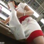 【HD盗撮動画】イイやつです!Mr.研修生!家電量販店のコスプレ販促ガールのパンチラ最高傑作www