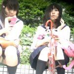 【HD盗撮動画】現役制服美少女の股間から純白パンティを凝視!無防備なパンチラ映像!!