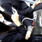 【盗撮動画】か弱そうな制服女子校生を数日にわたりストーカーして捲りパンチラを繰り返してる!!