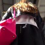 【HD盗撮動画】駅構内で出会ってしまった素人お姉さんを尾行して撮影する水玉模様のパンチラwww