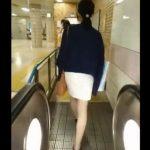【盗撮動画】美脚OLの素人お姉さんを尾行!スカート内を危険アングルでパンチラ激写!!