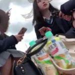 【盗撮動画】ディ◯ニーランド最高!あいにくの空模様だがJK美少女の無防備な股間からパンチラGETwww