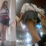 【盗撮動画】放課後の制服美少女をストーカー!パンチラ撮りながら尾行を続けた成果報告www