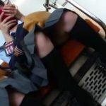 【盗撮動画】処女集漂う清純女子校生のパンチラを電車対面から隠し撮りしてるwww