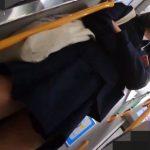 【HD盗撮動画】純白パンティを食い込ませた現役JKちゃん!尾行しながらスカート内隠し撮り!