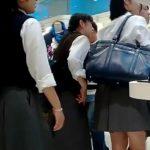 【HD盗撮動画】もしかしてJC中◯生かもしれない清純美少女のパンチラ隠し撮り公開!