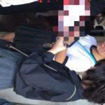 【HD盗撮動画】イイやつです!学際でJK美少女の渾身のムチムチ下半身からパンチラ獲得!