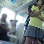 【盗撮動画】すまん、マジなヤツ!華奢なカラダ付きの美少女JC中◯生を尾行してパンチラ攻略!